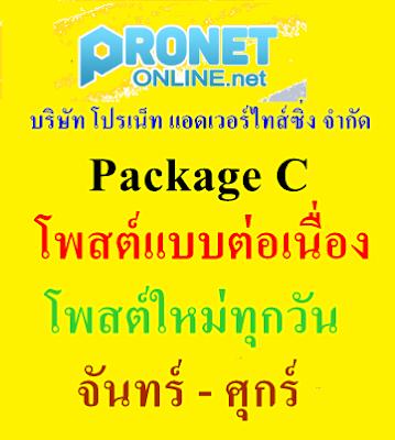 บริการ รับโพสต์ Package C - รับโพสต์แบบต่อเนื่อง (โพสต์ใหม่ทุกวันจันทร์-ศุกร์)